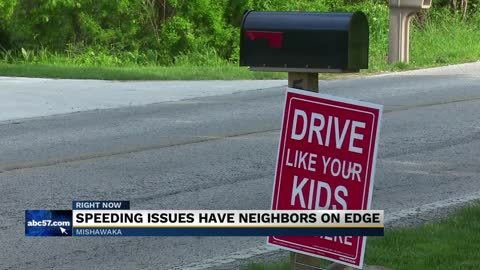 Mishawaka neighborhood fed up with speeders, concerned for safety