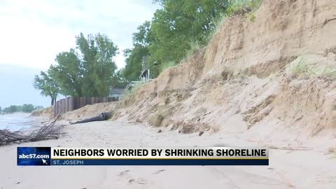 St. Joseph neighbors worried by shrinking shoreline