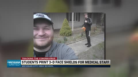 Michigan City robotics students 3-D print face shields for healthcare...