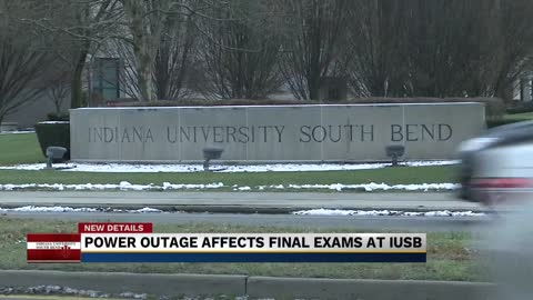 Students at IU South Bend take their final exams in the dark
