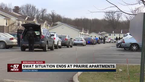 Wanted burglary suspect arrested at Prairie Apartments