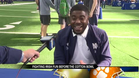 The Fighting Irish gear up for the Cotton Bowl Classic