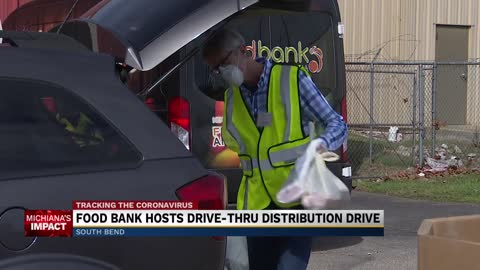 Food Bank of Northern Indiana hosts drive-thru distribution drive