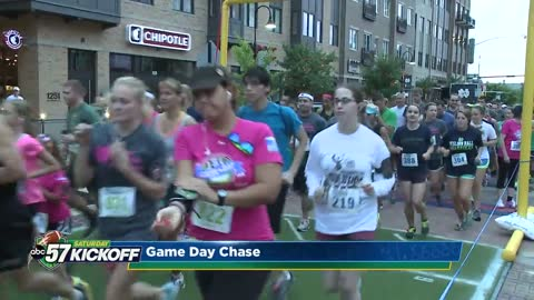 Thousands kick off Saturday with Game Day Chase