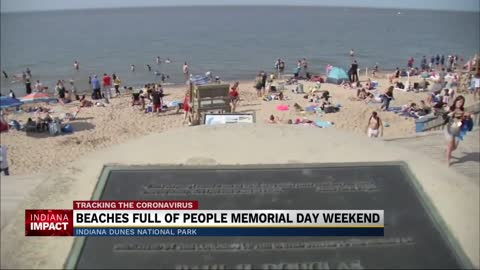 Thousands of people flock to Indiana Dunes for Memorial Day
