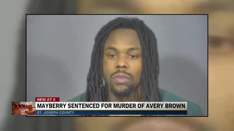 Timothy Mayberry sentenced to 75 years in prison for murder of Avery Brown at Bleachers