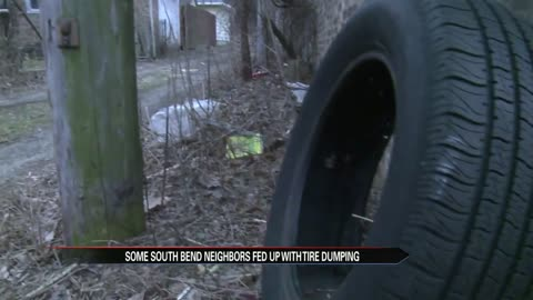 Reports of illegal tire dumping in South Bend
