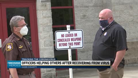 Two Cass County police officers give back after recovering from COVID-19