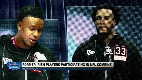 Two Notre Dame football players attend 2020 NFL Combine despite...