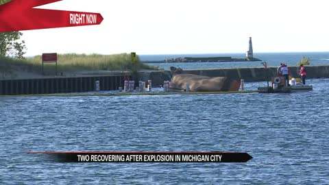 Explosion reported on barge near Michigan City, two injured