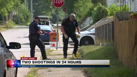 Two shootings within 24 hours in South Bend is sparking conversation in the community