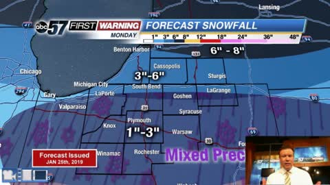 First look at Monday's winter storm