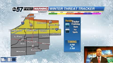 Freezing rain threat lowered, more rain midweek