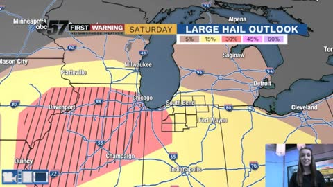 Severe storms Saturday evening; hail, flooding, damaging winds...