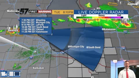 Scattered late evening storms, severe weather possible
