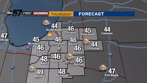 Breezy and chilly Thursday; cool temperatures here through next...