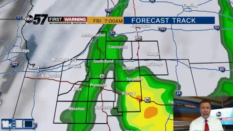 Rain tonight and a cool-down for the weekend