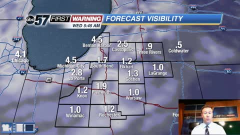 Patchy fog to start Wednesday, quiet end of the week.