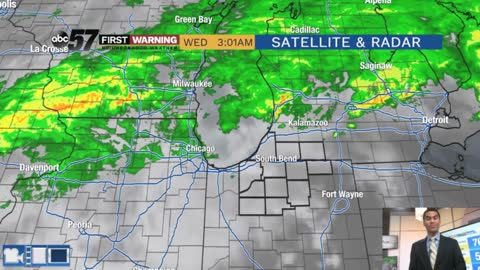 Scattered showers and cooler temps today