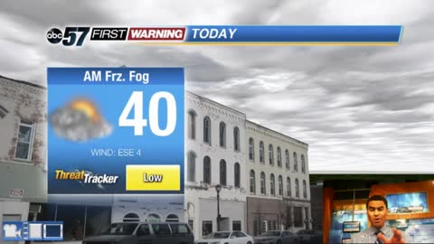 Early AM freezing drizzle/fog