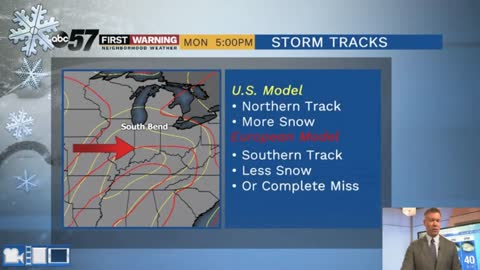 The track matters: A look at Monday's snow potential