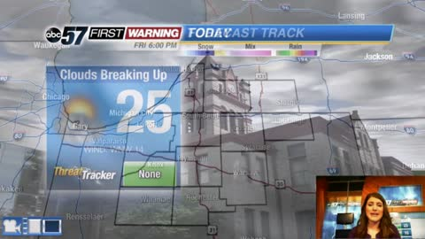 Cold and breezy today - light snow Sunday