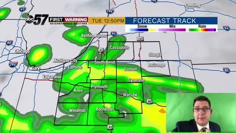 More showers tonight/Tuesday before dry weather finally arrives