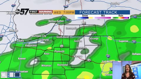 Tracking wet weather and possible thunderstorms