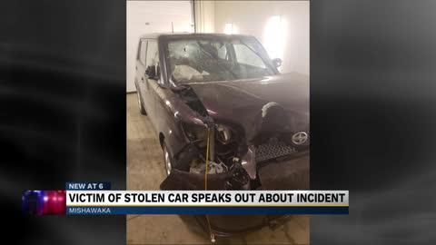 Victim of stolen car speaks out about incident