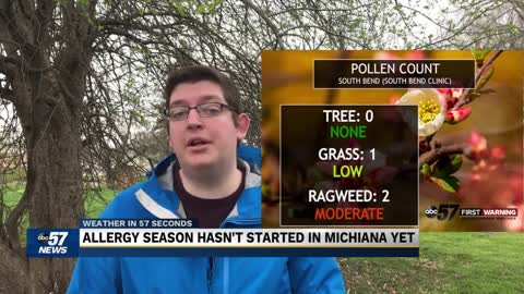 Pause to spring has (temporarily) paused allergy season across Michiana