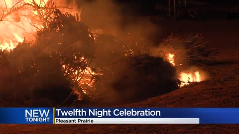 Pleasant Prairie brings back 'Twelfth Night' Christmas tree bonfire