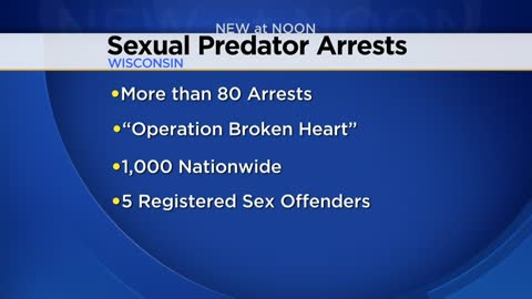 80 suspected sexual predators arrested in Wisconsin