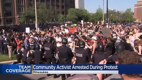 Milwaukee community activist Frank Nitty arrested during George...