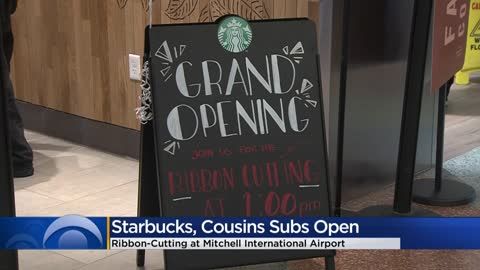 Starbucks, Cousins Subs open at General Mitchell International Airport