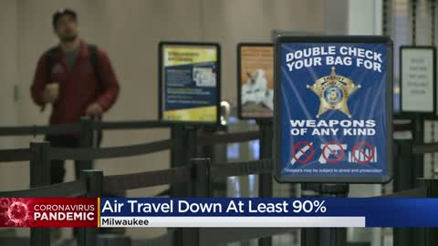 Air travel down at least 90% during COVID-19