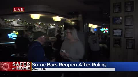 Wisconsin sees several area bars reopen immediately following Supreme Court ruling