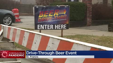 """Beer Drive-Thru"" helps locals support breweries closed due..."