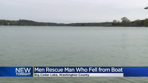 Friends help rescue fisherman who fell into water at Big Cedar Lake