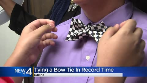 Racine 12-year-old ties bow tie fastest, breaks Guinness World Record