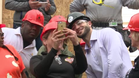 """It's just really humbling:"" Brewers help build Habitat for Humanity home"