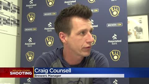 Craig Counsell, Brewers respond to Molson Coors tragedy