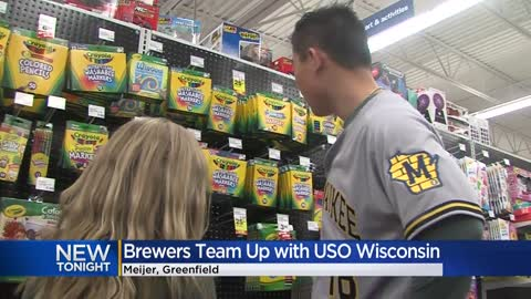 Brewers team up with Meijer, donate gift cards to USO children