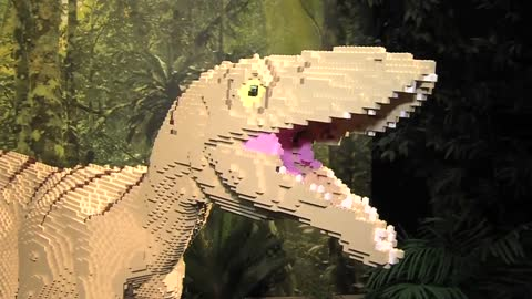 """Brick Dinos"" display opening at Milwaukee County Zoo this weekend"