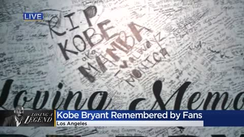 Memorials grow outside Staples Center as fans, community remember Kobe Bryant