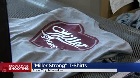 Local company making 'Miller Strong' t-shirts for Molson...
