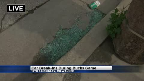 Bucks fans have cars broken into during game