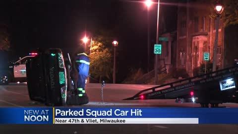 MPD: Car rolls over, hits several parked police squads near 47th and Vliet