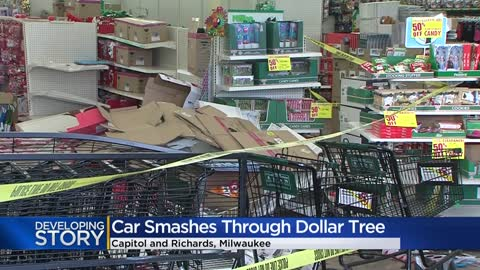 Witness describes scene after car crashes into Dollar Tree on Capitol Drive