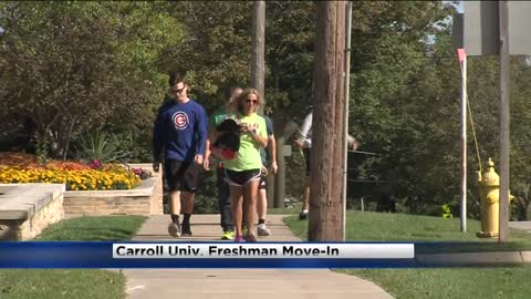 Move-in day for freshmen at Carroll University