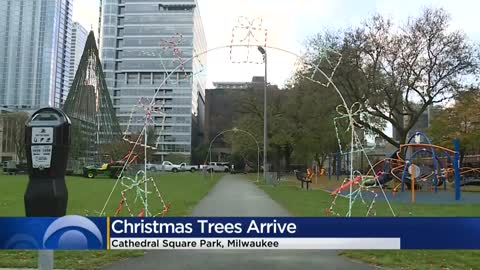 Cathedral Square Park gets prepped for the holidays